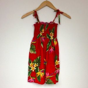 RJC Girls Made In Hawaii Floral Nap Dress Size 7